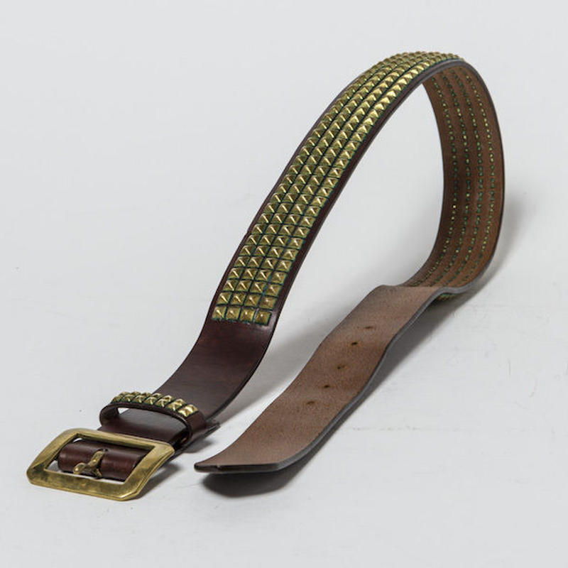 40mm STUDS BELT -pyramid- (CHOCO)