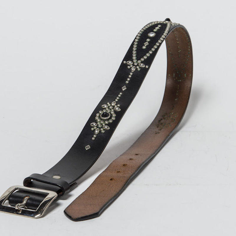 40mm STUDS BELT -crest- (BLACK)