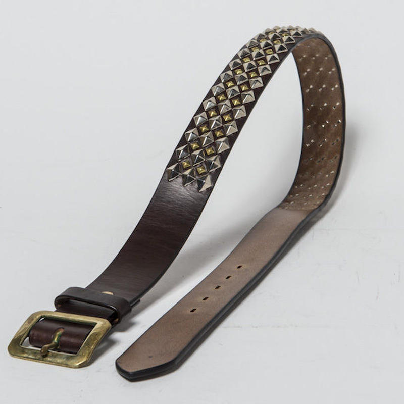 40mm STUDS BELT -diamond- (CHOCO)