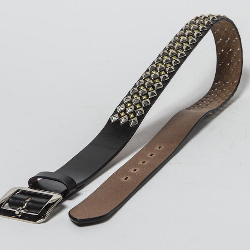 40mm STUDS BELT -diamond- (BLACK)