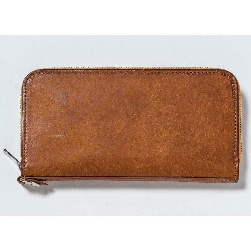 ZIP LONG WALLET (CAMEL)