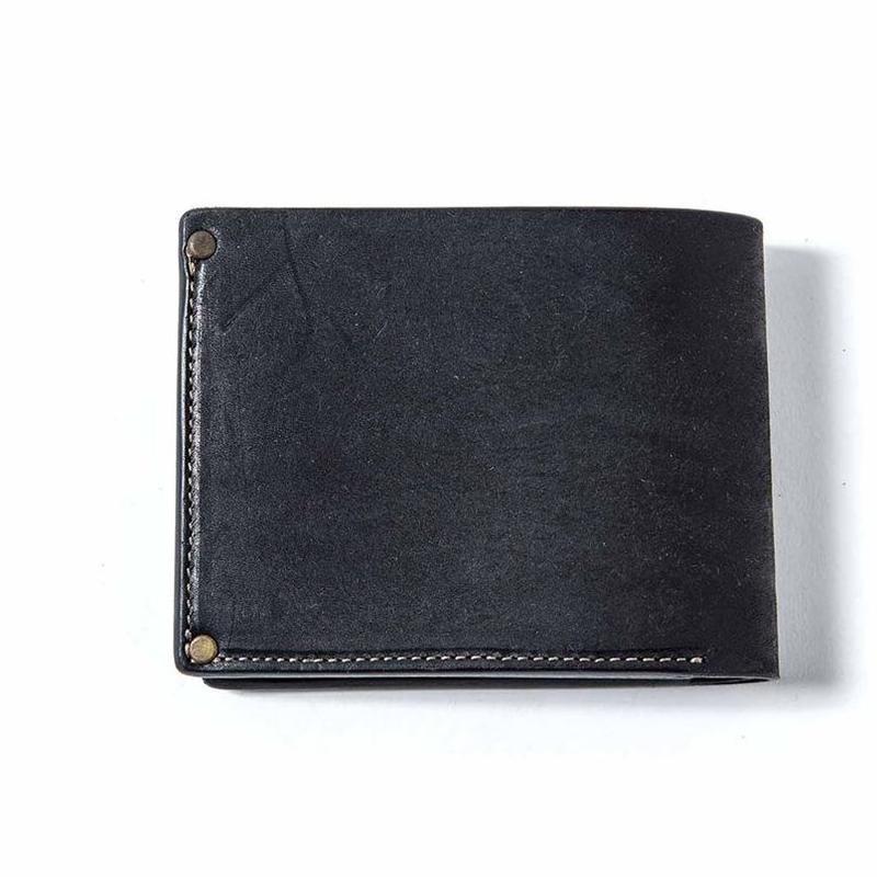 Vintage Works × The Wonder Lust    Two-Fold Wallet  Black