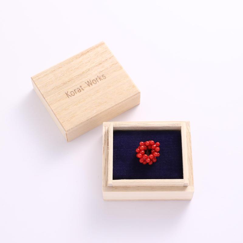 帯留 珊瑚 赤