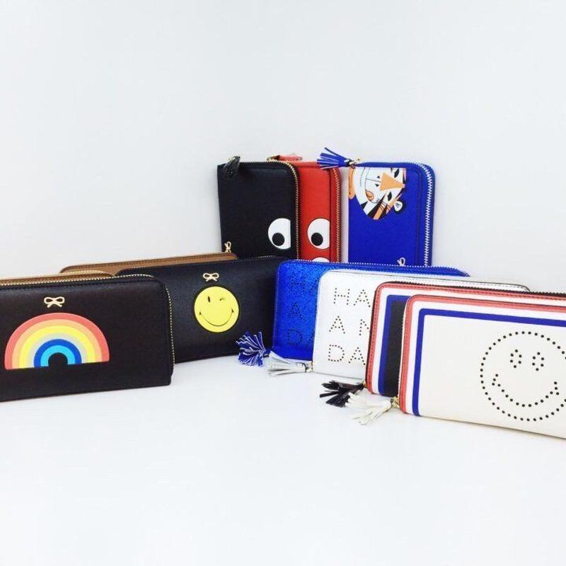 アニヤ風ラウンドファスナー財布