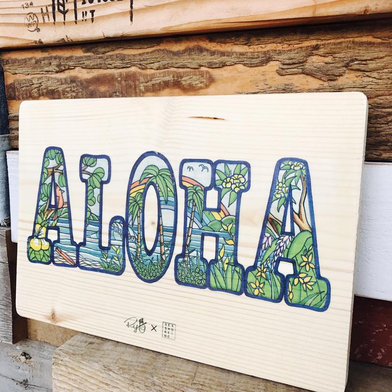 Aloha Woodplate by seashore. x Ryo
