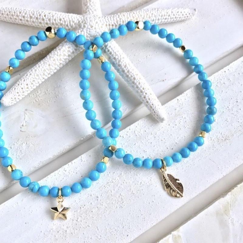 Turquoise gold bracelet