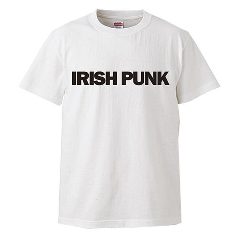 IRISH PUNK S/S Tee WHITEx BLACK
