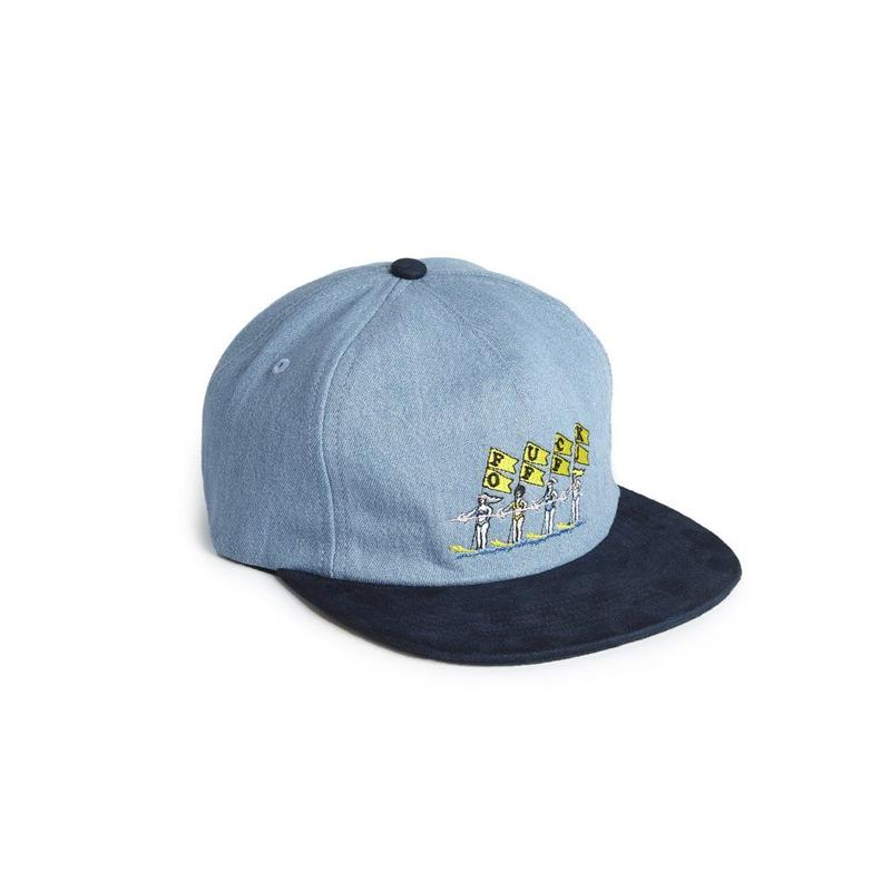 FUCK OFF STRAPBACK - LIGHT DENIM/NAVY