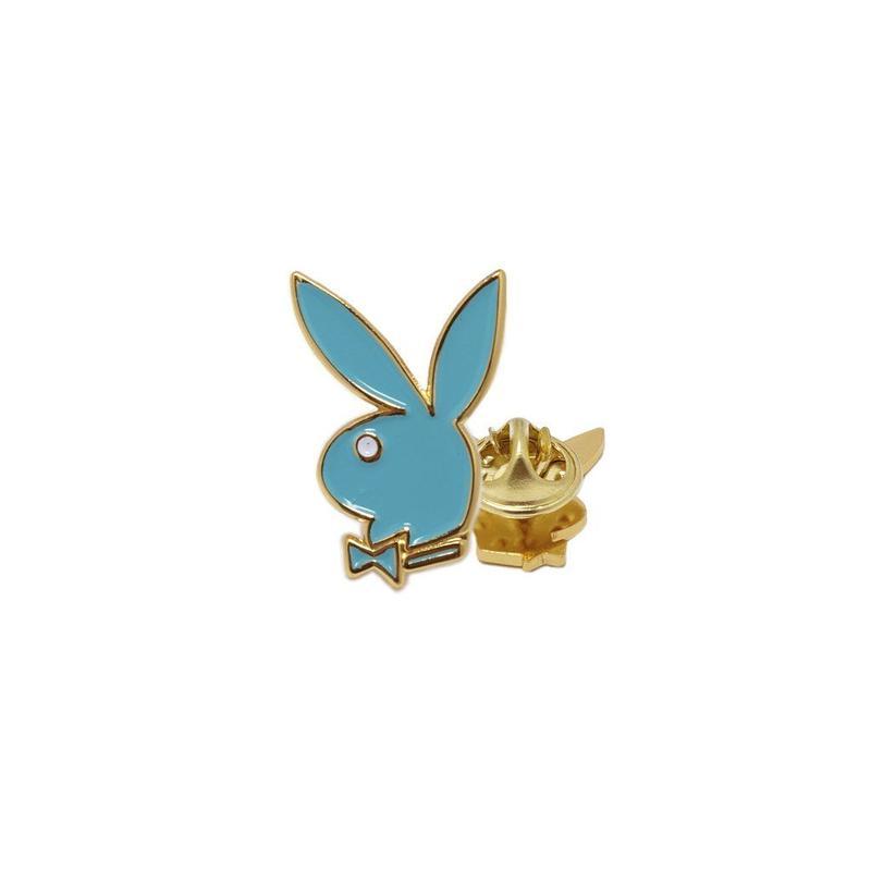 GW X Playboy Bunny Head Lapel Pin - Teal
