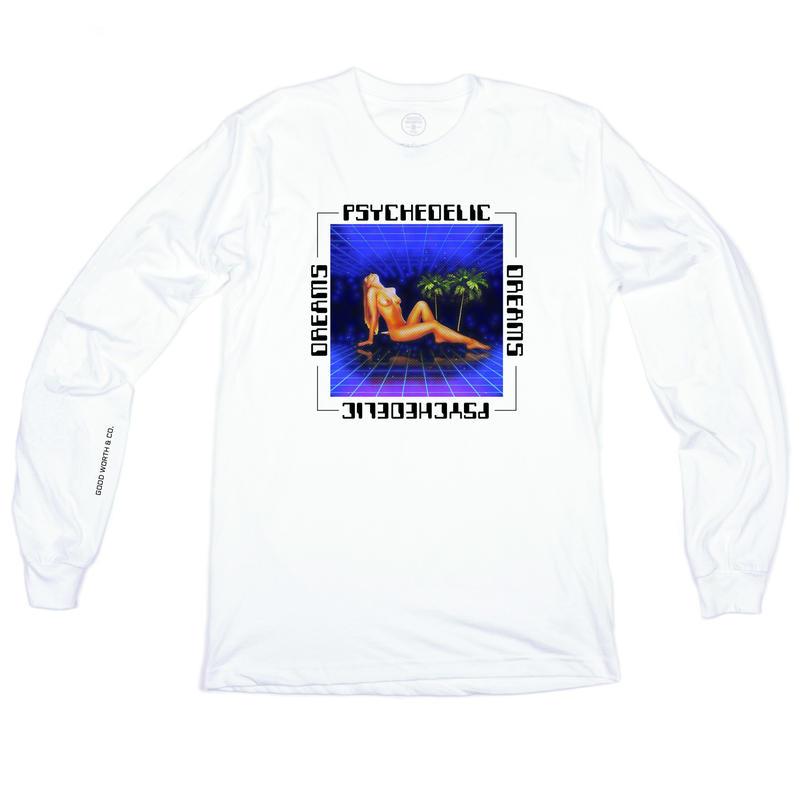 Psychedelic Dreams Long Sleeve - White