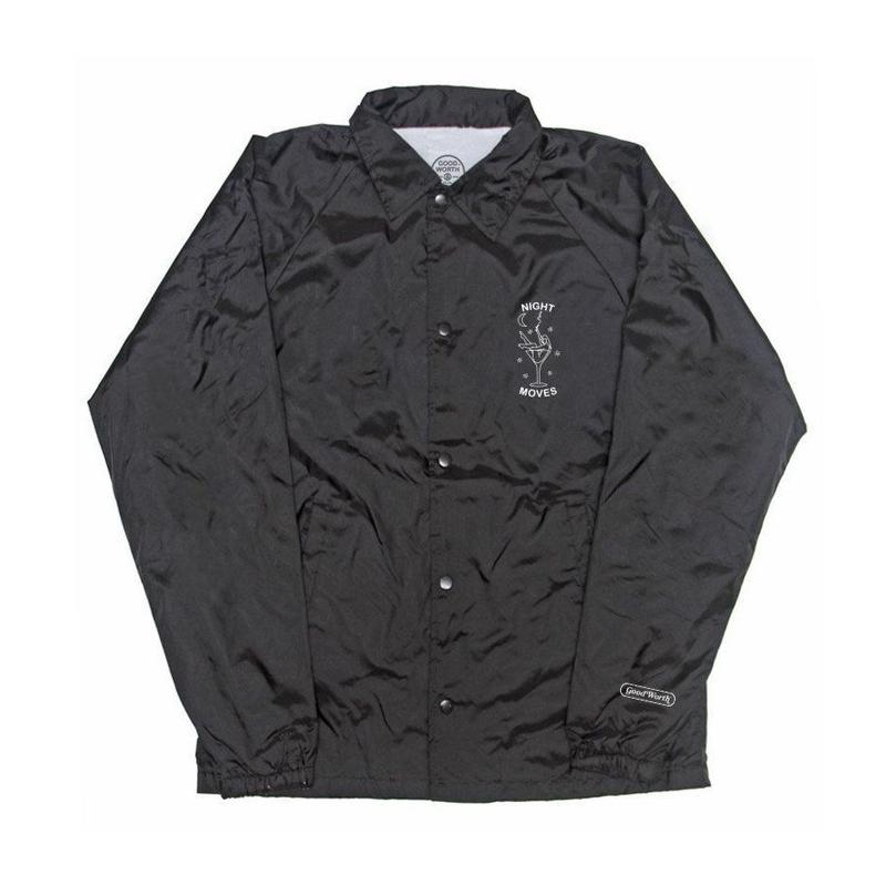 NIGHT MOVES COACHES JACKET - BLACK