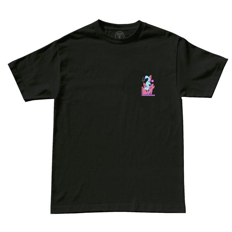 FLAMINGO TEE - BLACK