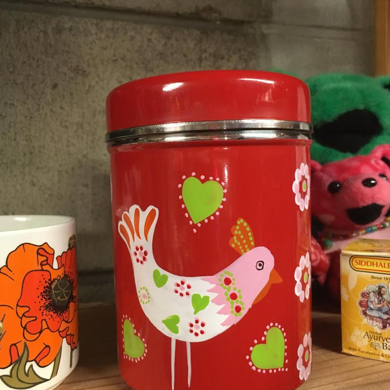 L ペイントカラフル缶 スパイス缶