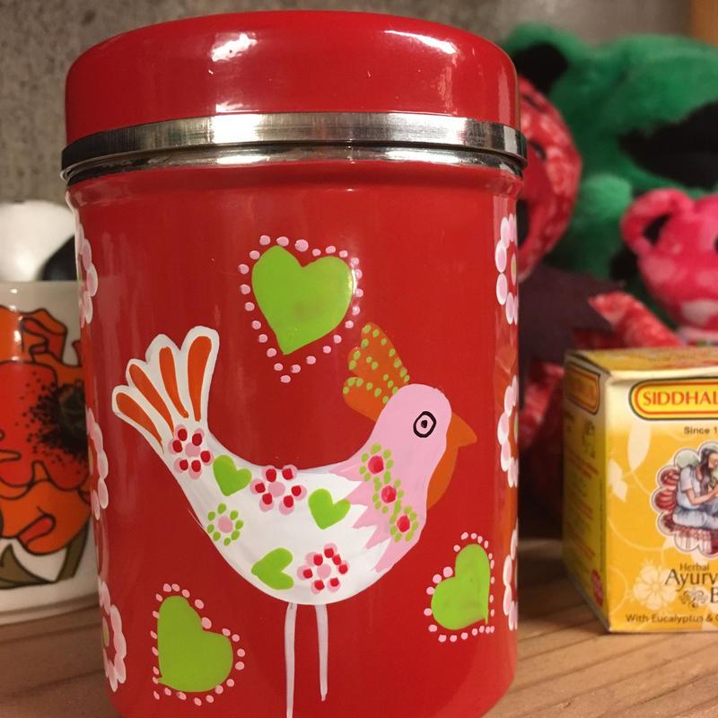 S ペイントカラフル缶 スパイス缶