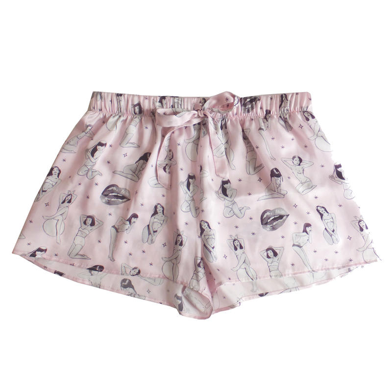 the Little Vicious xoxo Jean Andre,print pajamas-shorts