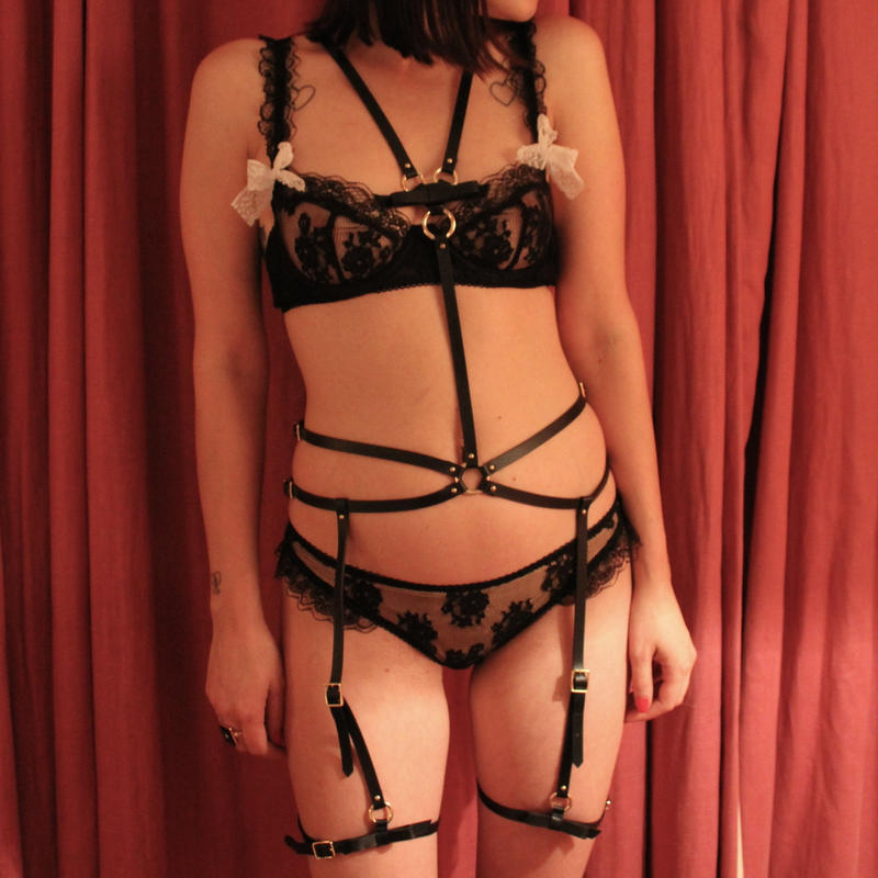 Leather Harness-Black