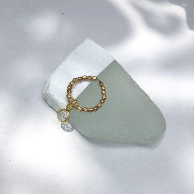 ★mauimarioceanjewelry 14kgf GOLD ring  clear Mサイズ