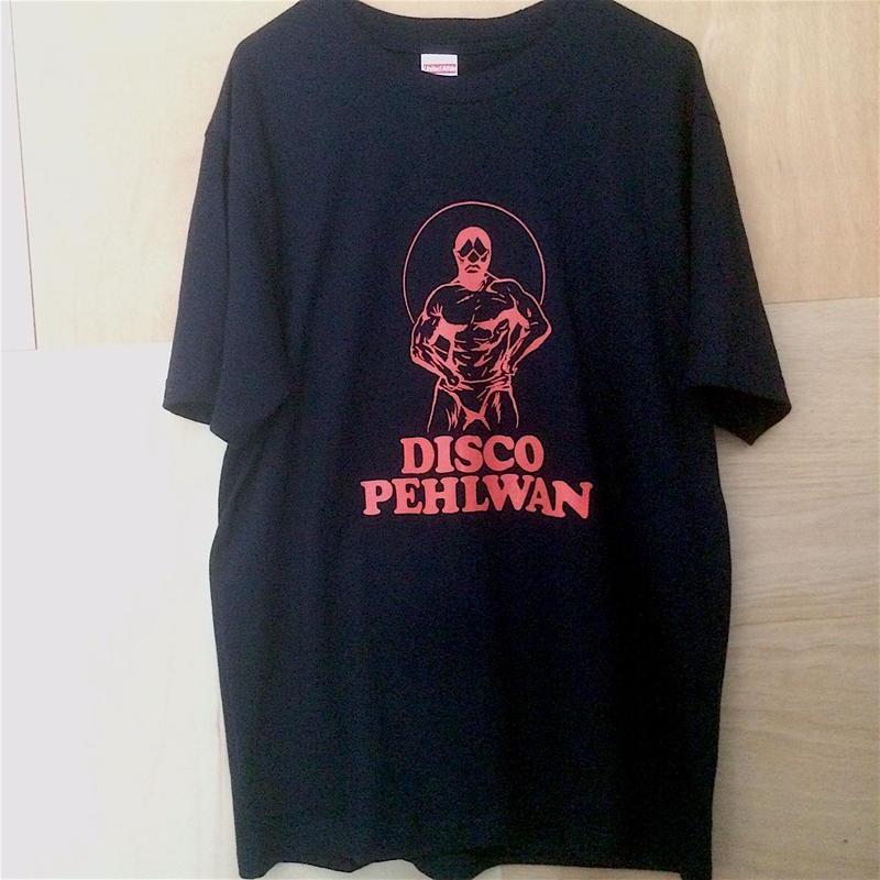 """[五木田智央] """"DISCO PEHLWAN"""" Tシャツ(ネイビー)"""