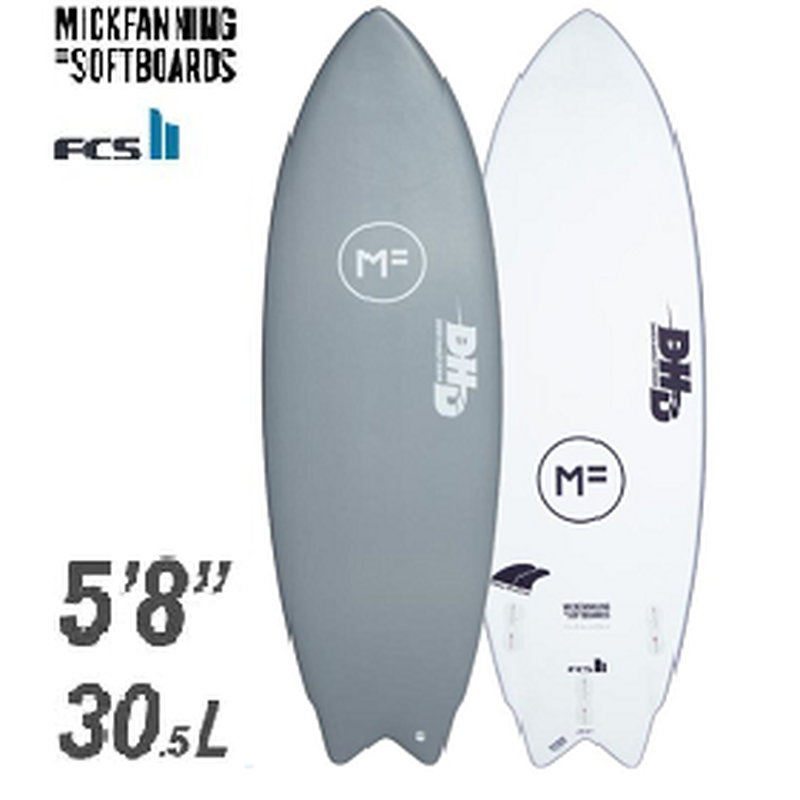 "【MICK FANNING】THE TWIN DHD 5'8"" FCS2FIN付き GRAY"