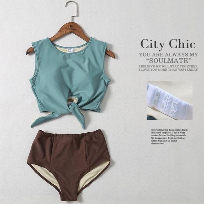 TB-122 Separate Deep Collar City Chic Bikini