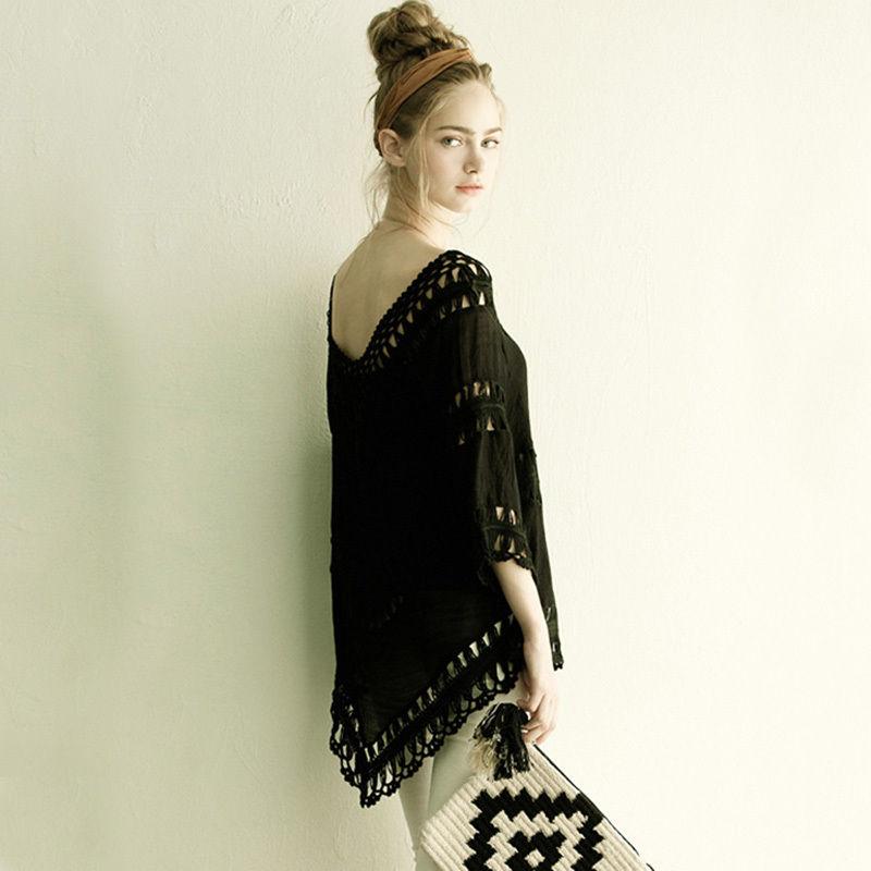 TA-005 Black lace Sundress