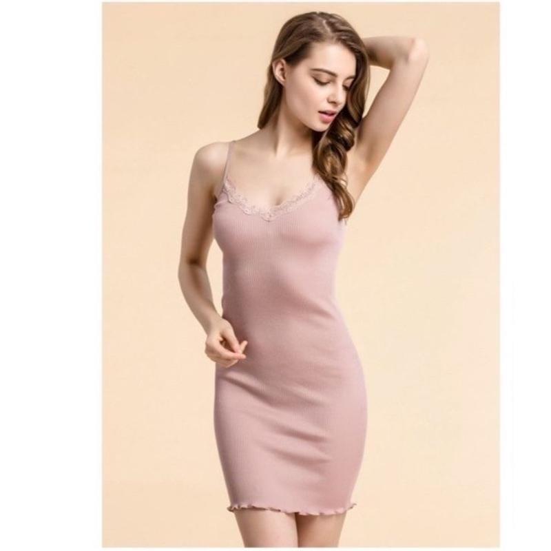 TA-034 Silk Cotton Slip Dress