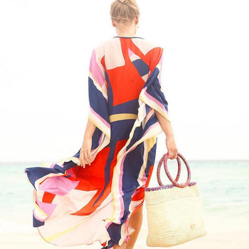 TA-007 Geometric Pattern Sun Dress