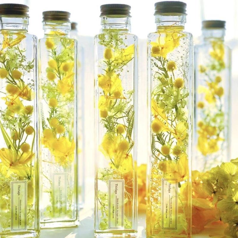 ミモザ咲くうららかな春のハーバリウム -Lサイズ-