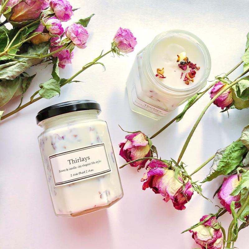 天然素材100%アロマとハーブのソイキャンドル~ローズゼラニウムの香り~