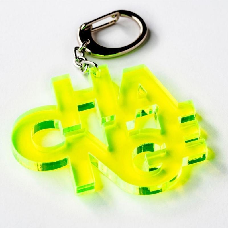 CHANGE_key ring(蛍光イエローグリーン/クリア)