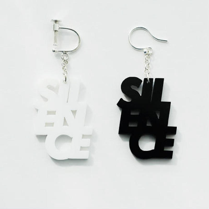 SILENCE_earring or pierce(ホワイト/ブラック)