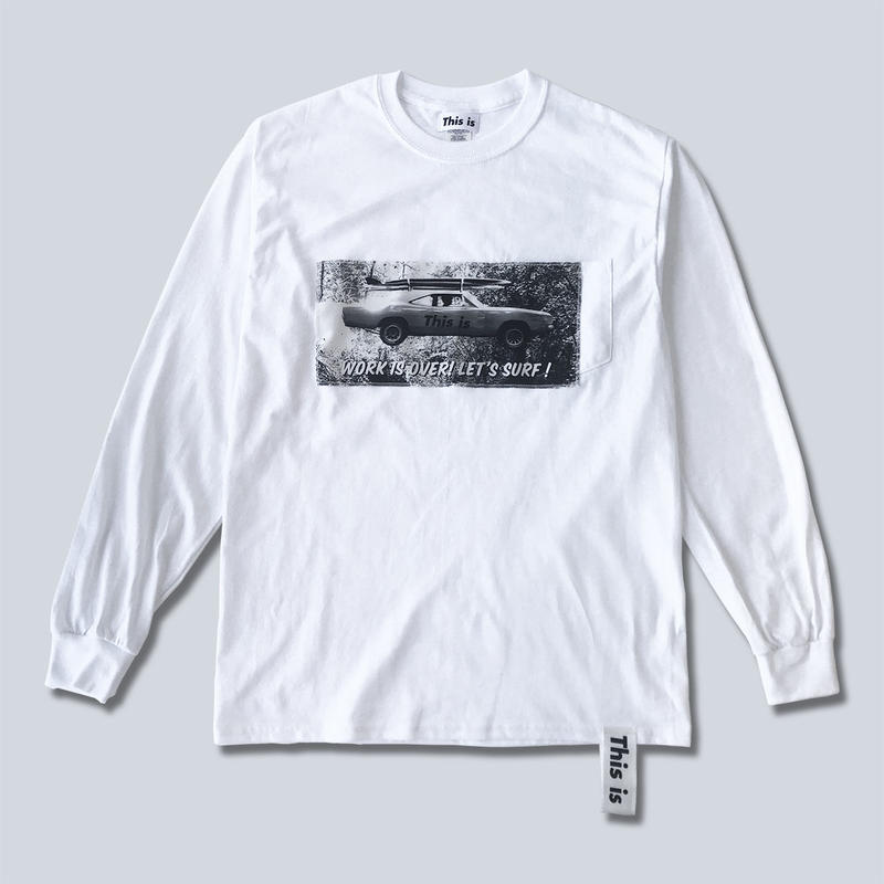 This is the Long Tee (LET'S SURF!)