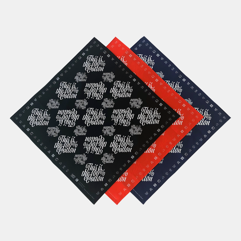 This is the 100% Cotton Bandana【Monogram】