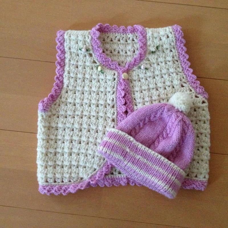 手編みセーター・帽子セット