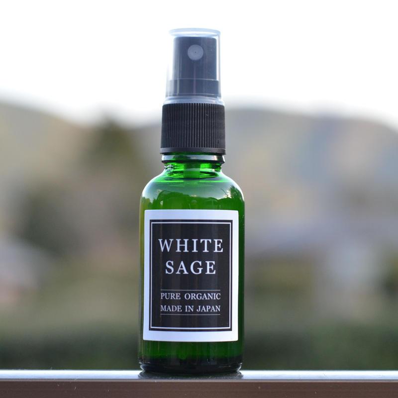自然栽培ホワイトセージ 芳香蒸留水 30ml