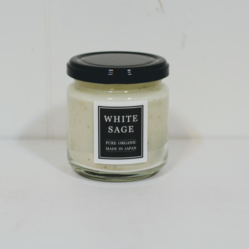 自然栽培ホワイトセージ オーガニック浄化キャンドル