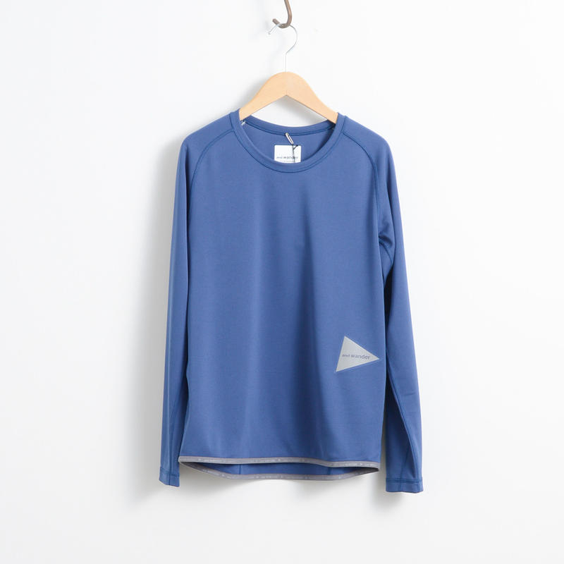 and wander / Dry jersey raglan long sleeve T