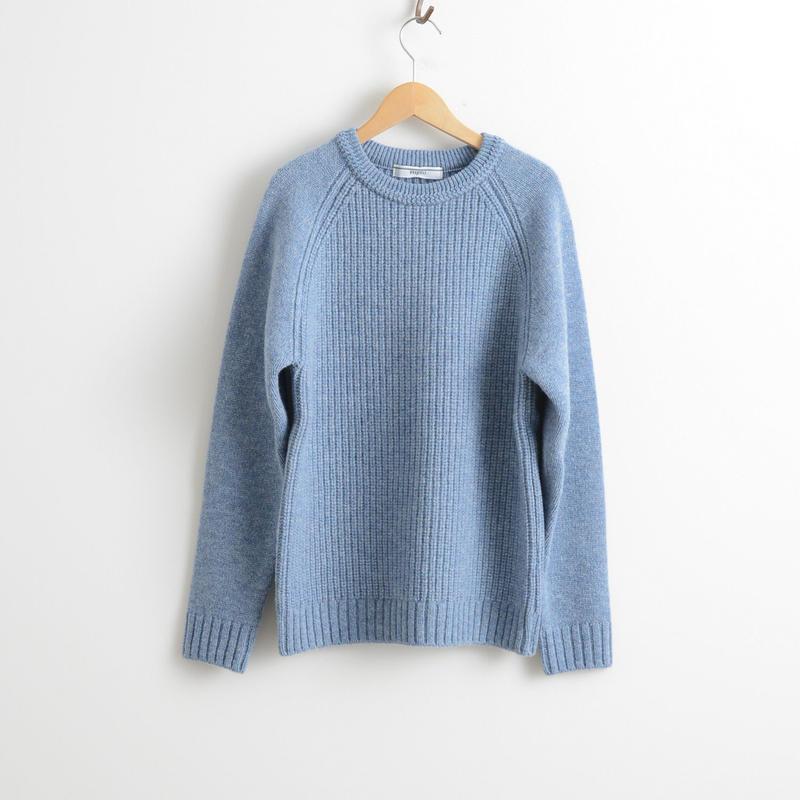 FUJITO / Crew Neck Rib Knit Sweater