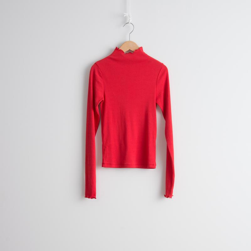 ALLEGE FEMME / Wide rib L/S T-shirt