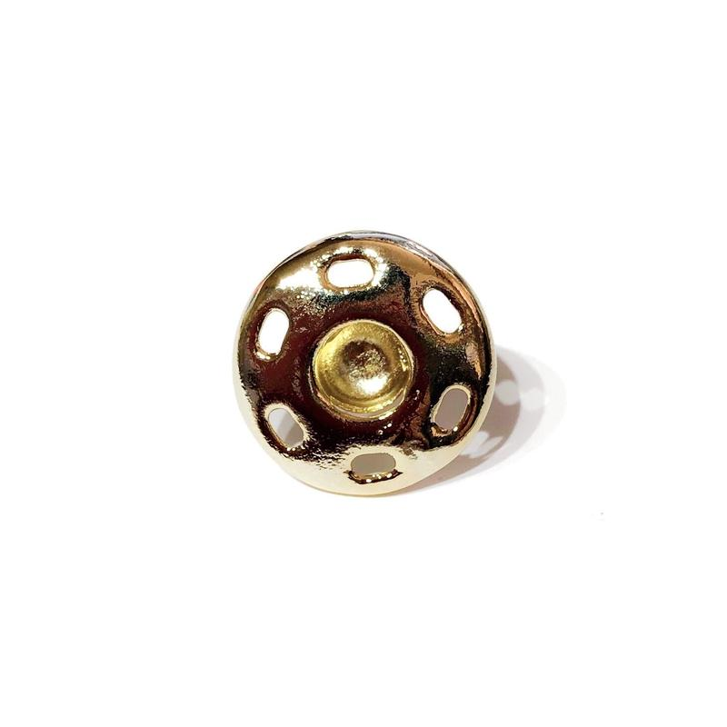 スナップボタン(M)ピアス /ゴールドコーティング