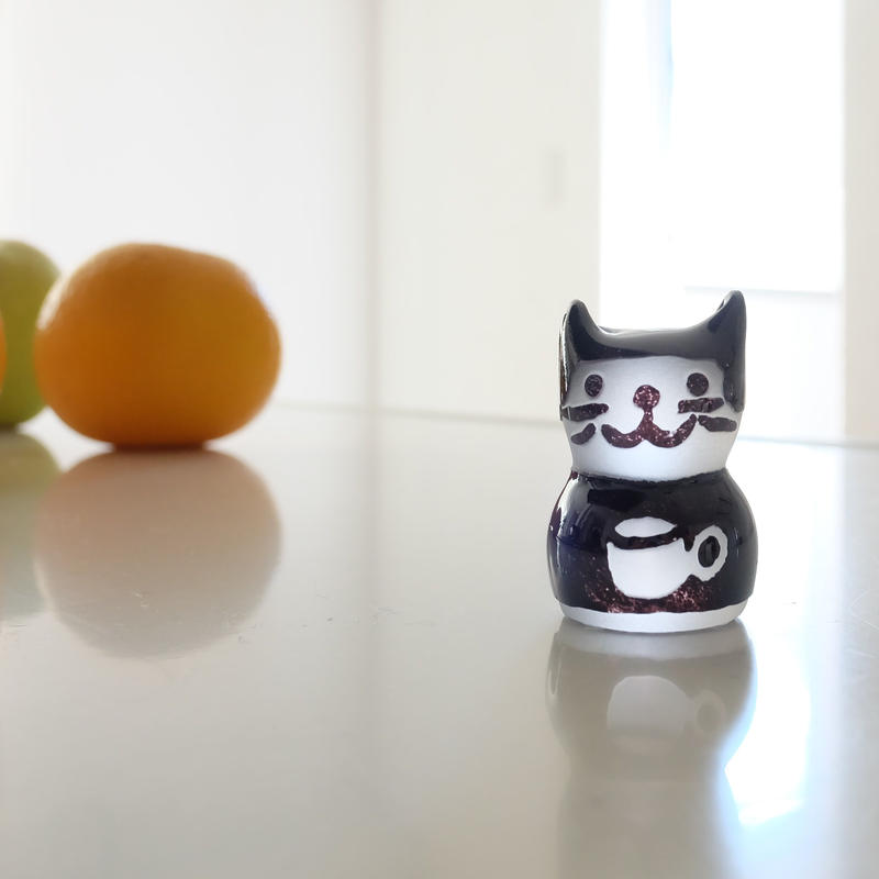 猫ハンコ(コーヒーカップ猫の黒ちゃん1)