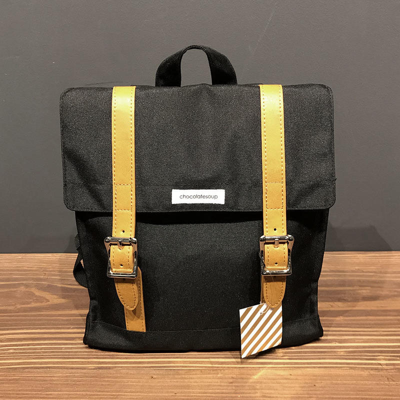 SQUARE LESSON BAG - BLACK