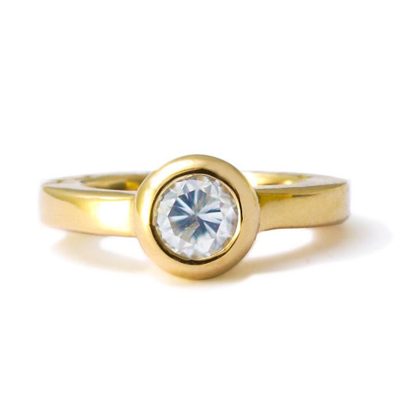 K18ベビーリング 4月 ダイヤモンド