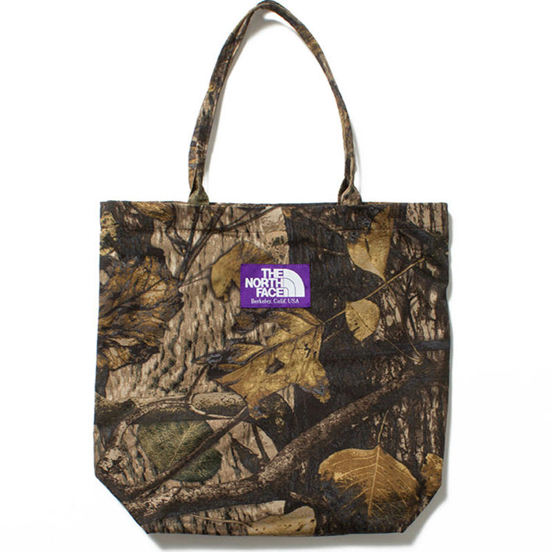 "THE NORTH FACE PURPLE LABEL ""Tree Camo Print Tote"""