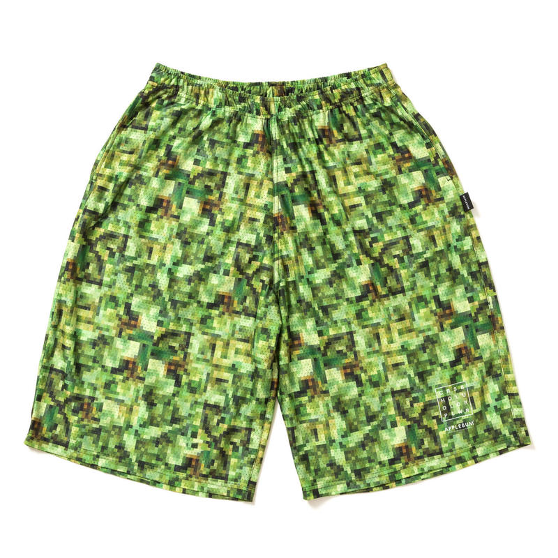 "APPLEBUM × CHOP ROLL SLOW BURN ""Pixel"" Basketball Mesh Short Pants"