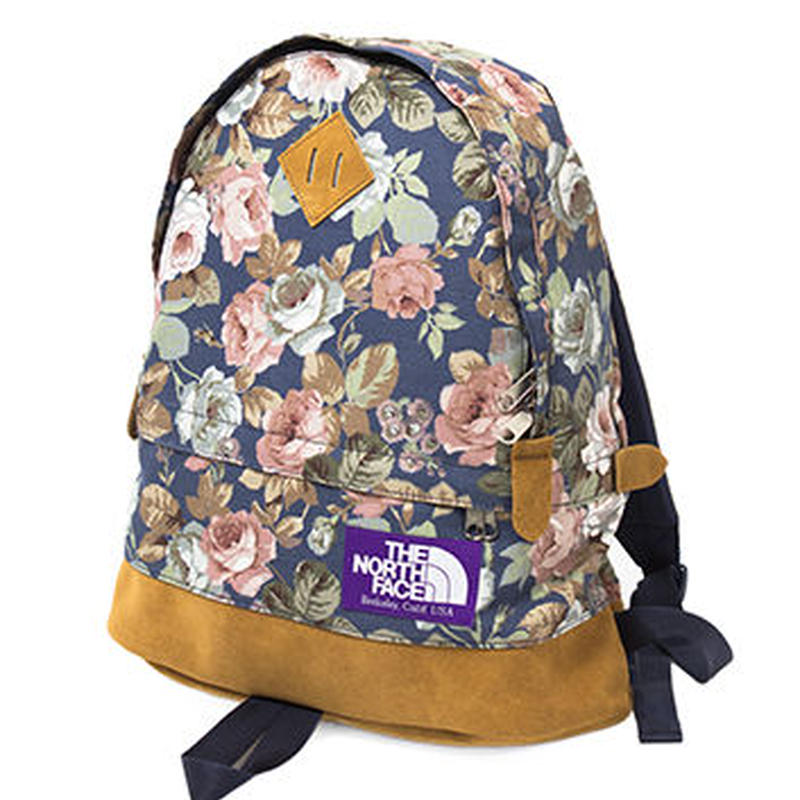 """THE NORTH FACE PURPLE LABEL """"Flower Print Medium Day Pack"""""""