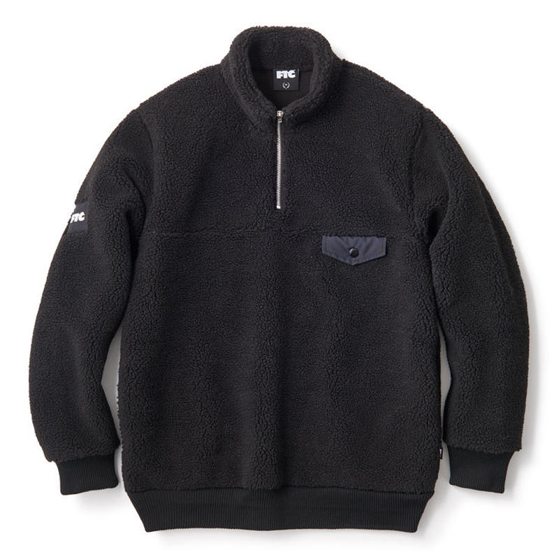 SHERPA FLEECE HALF ZIP PULLOVER FTC018AWSW04