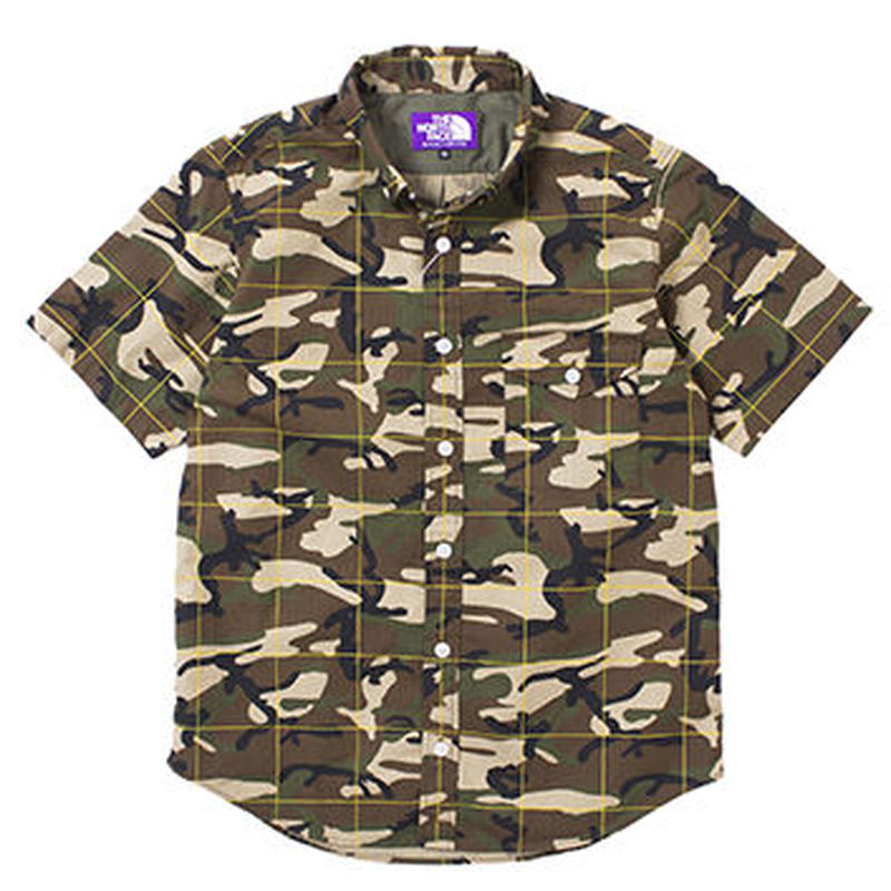 """THE NORTH FACE PURPLE LABEL""""Camouflage Print H/S Shirt"""""""