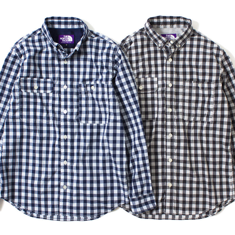 """THE NORTH FACE PURPLE LABEL """"COOLMAX GINGHAM STRETCH B.D SHIRT"""""""