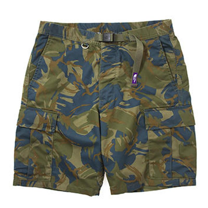 "THE NORTH FACE PURPLE LEBEL ""COOLMAX® Camouflage Webbing Belt Shorts"""
